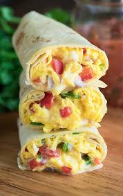 Egg, Veggie, & Cheese Breakfast Burritos (Half Dozen)