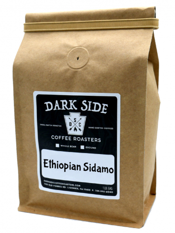 Ethiopian Sidamo Coffee (Ground- Dark Side Coffee)