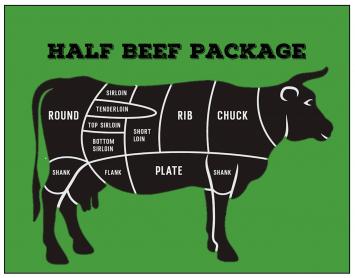 Beef - Half Beef Package Deposit (160lbs)