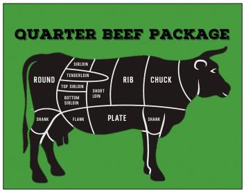 Beef - Quarter Beef Package Deposit (80lbs)