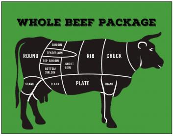 Beef - Whole Beef Package Deposit (320lbs)