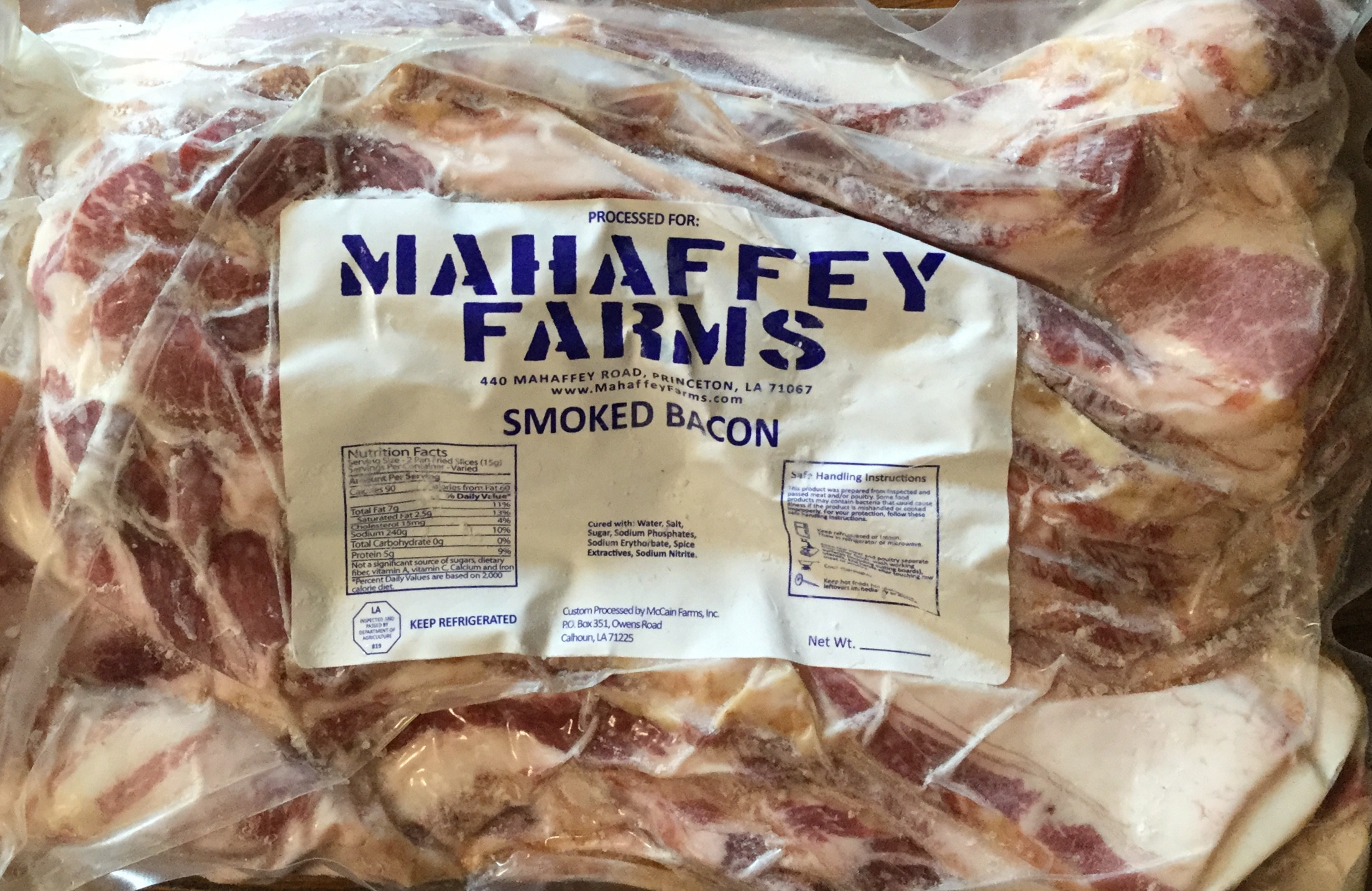 5 pounds - Smoked Bacon