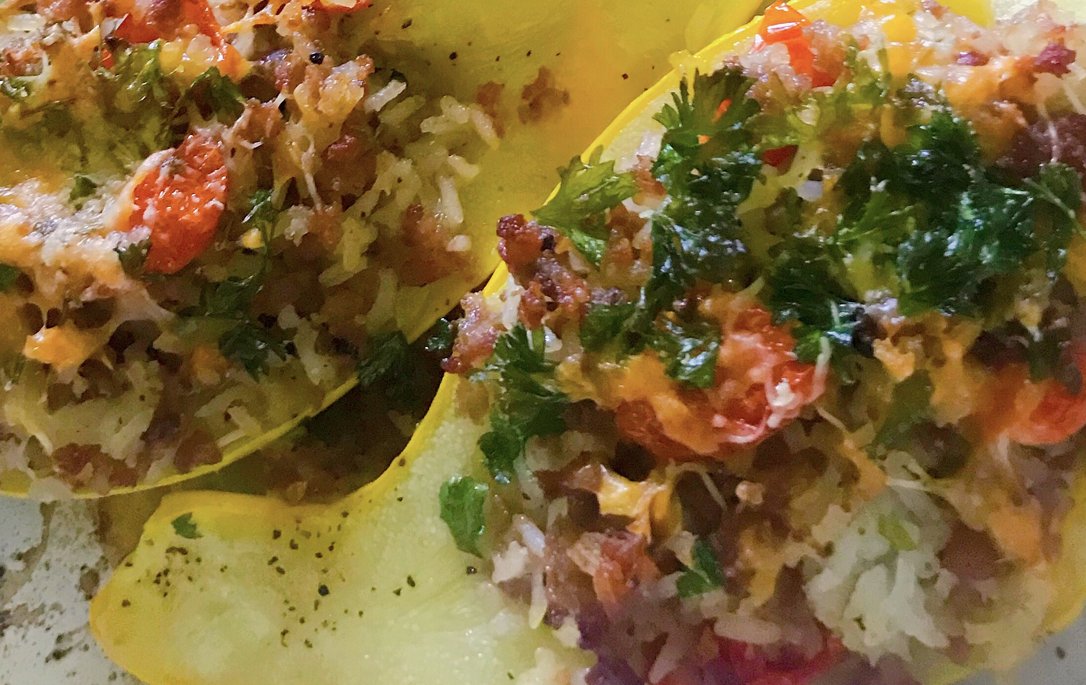 Sandra's stuffed summer squash