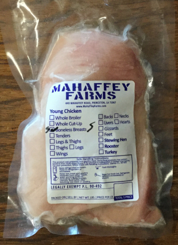 Halved Chicken Breasts