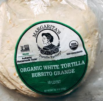 Margarita's - Organic White Tortilla (Burrito Grande)