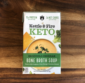 Kettle & Fire - Keto Bone Broth Soup - Broccoli Cheddar