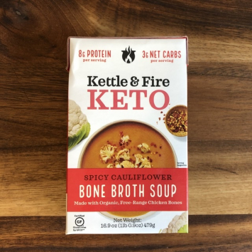 Kettle & Fire - Keto Bone Broth Soup - Spicy Cauliflower