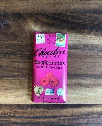 Chocolove - Raspberries in Dark Chocolate (55%)