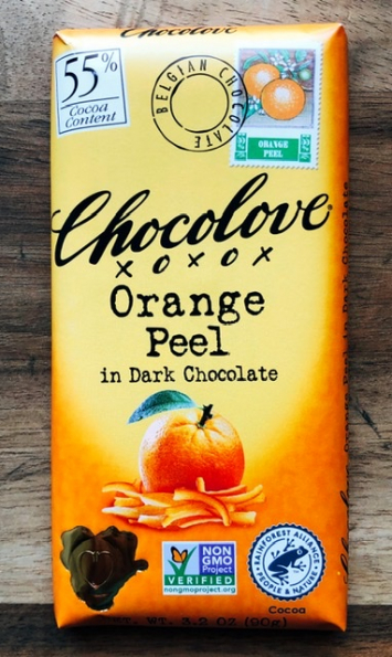 Chocolove - Orange Peel in Dark Chocolate (55%)