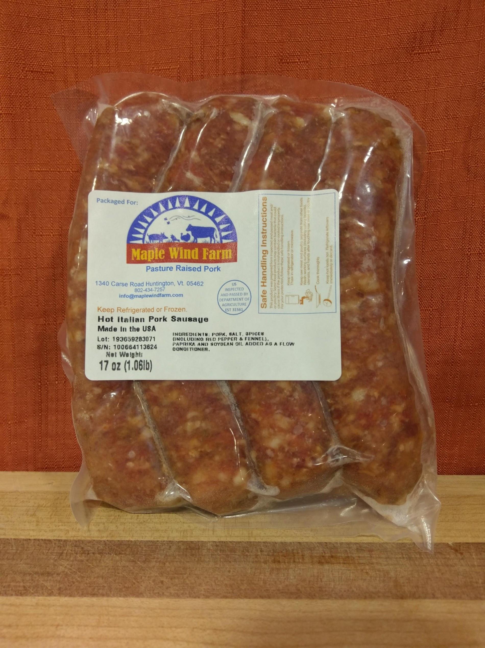Pork Sausage - Hot Italian Links