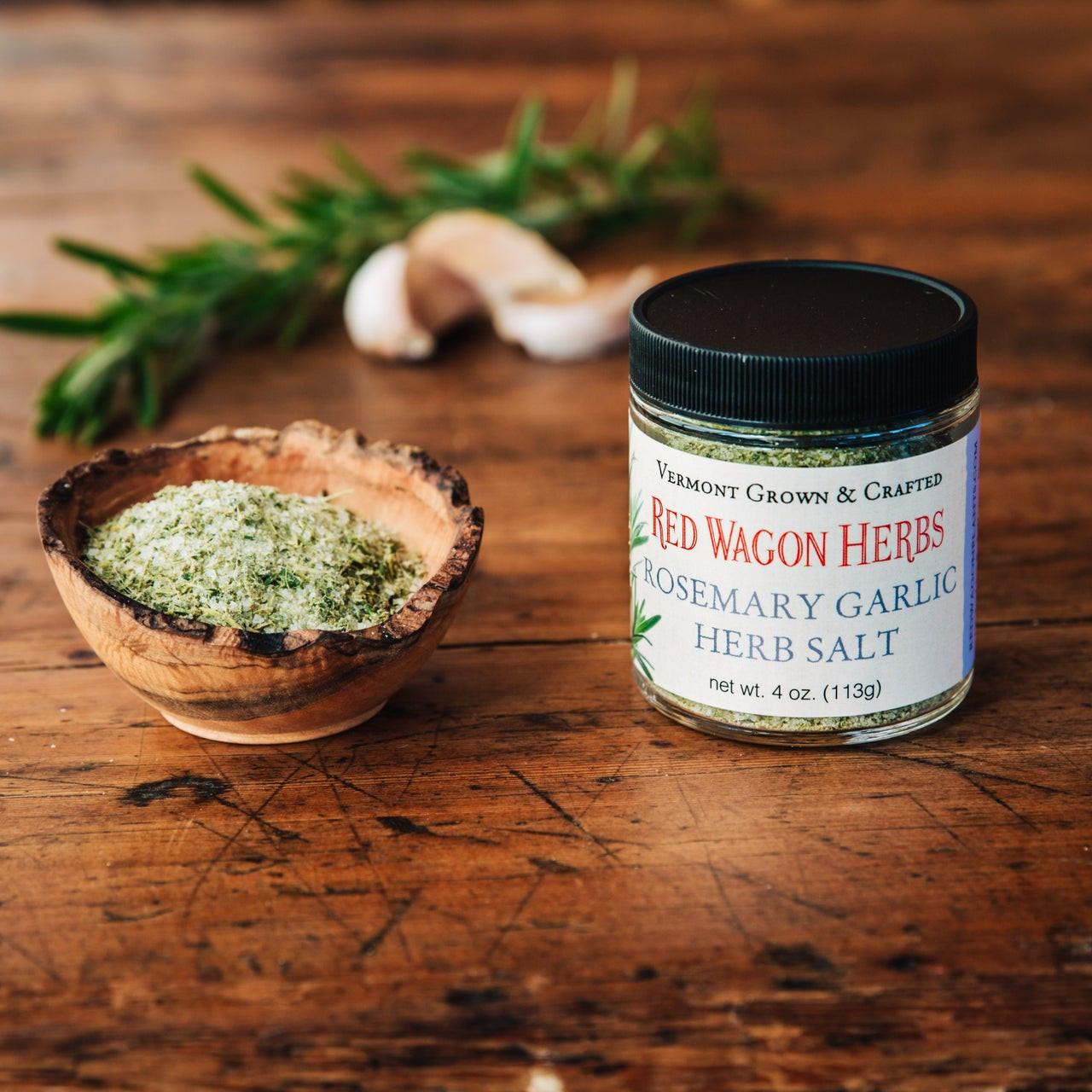 Rosemary Garlic Herb Salt - Red Wagon Herbs