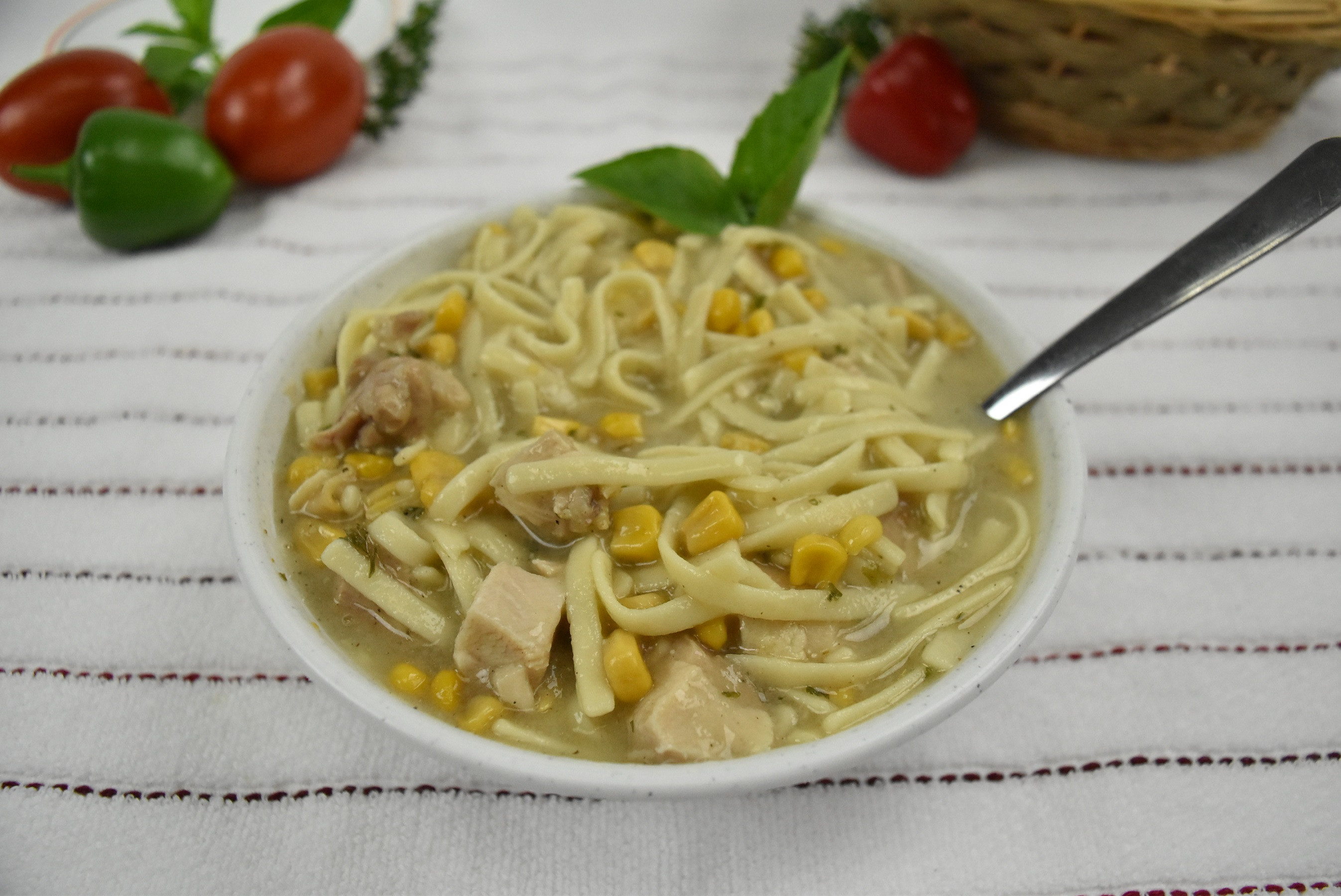 Homemade Chicken Corn Noodle Soup