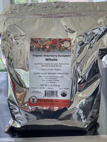 Whole Organic European Elderberries