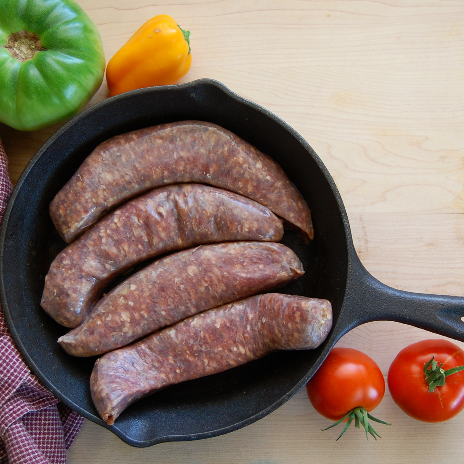 Beef Sweet Italian Sausages, cased