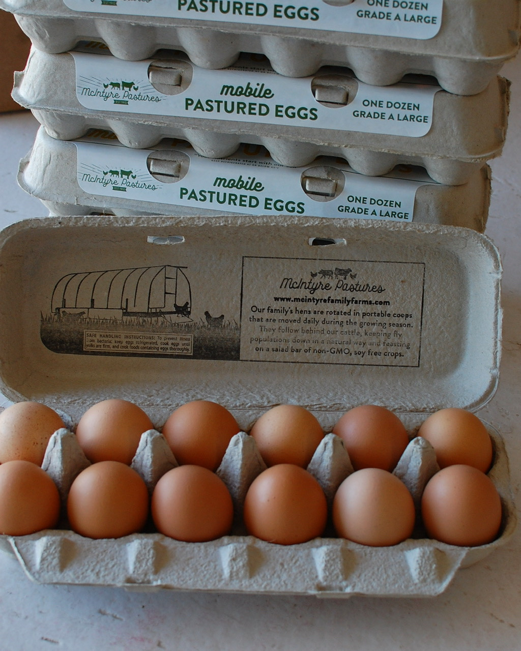 Large Pastured Egg Bundle:  10 dozen