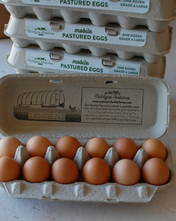 Large Pastured Egg Bundle:  5 dozen
