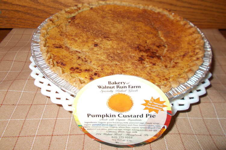 "Pumpkin Custard Pie,  8 """
