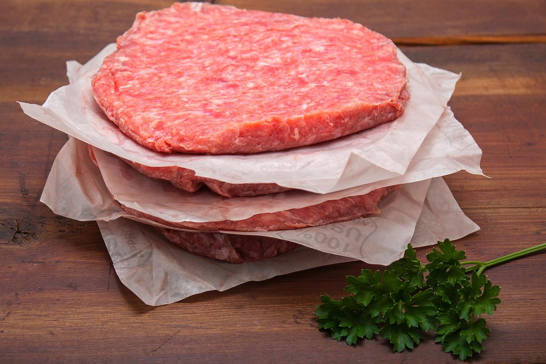 12 lb box - 4 oz Ground Beef Patties - September