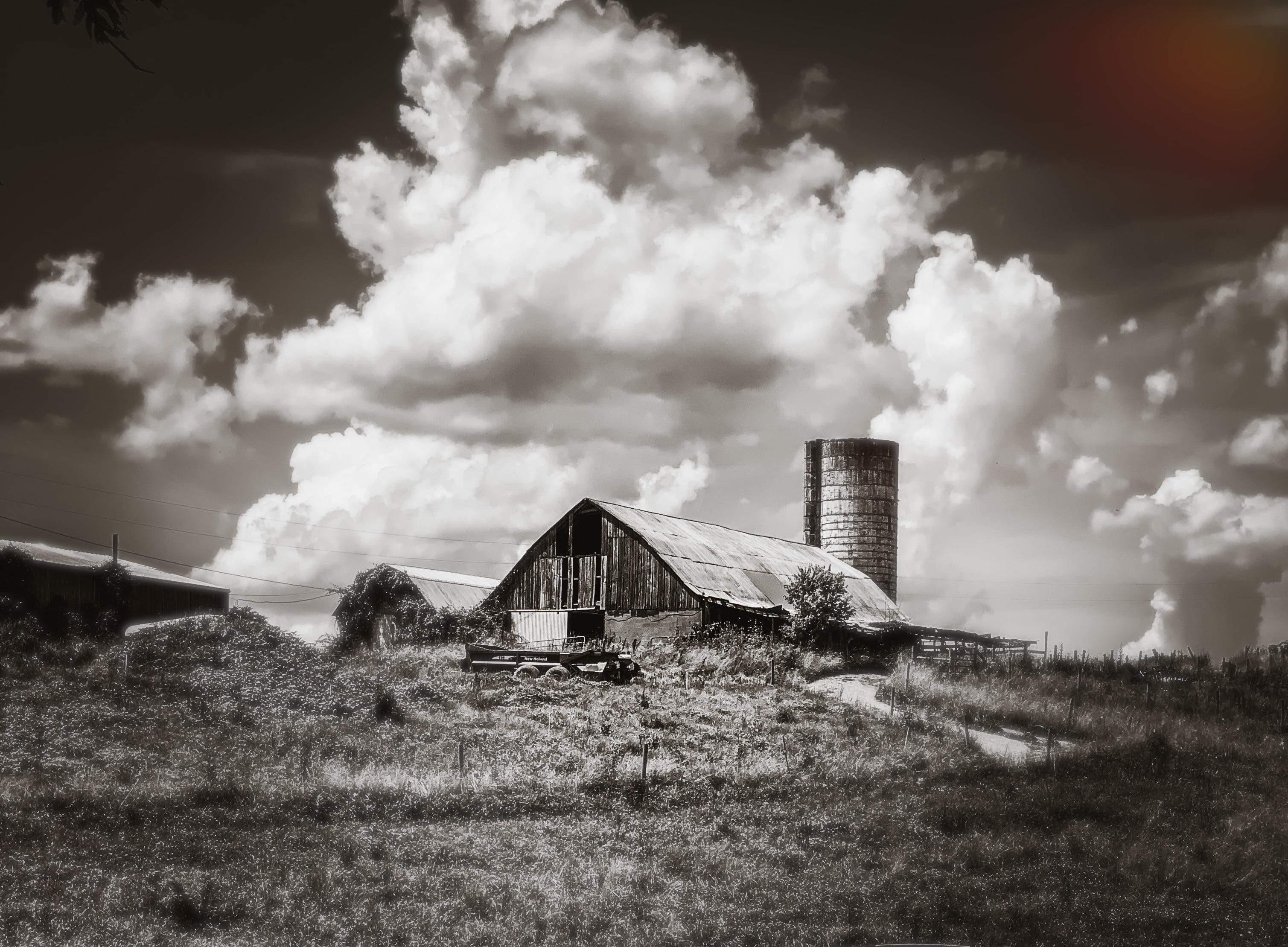 Old barn and creamery ruins