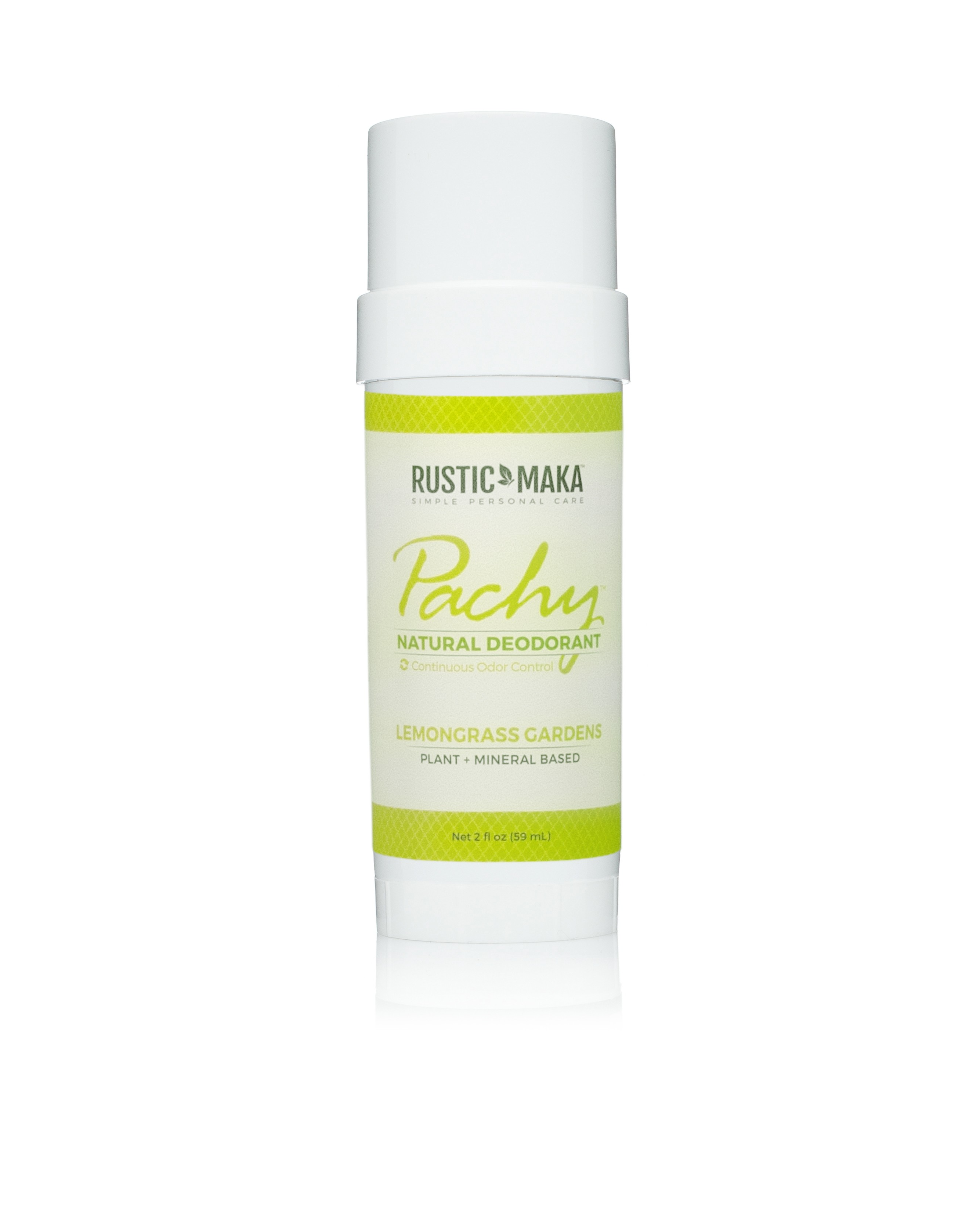 Rustic MAKA Pachy Natural Deodorant Lemongrass Gardens - Full Size