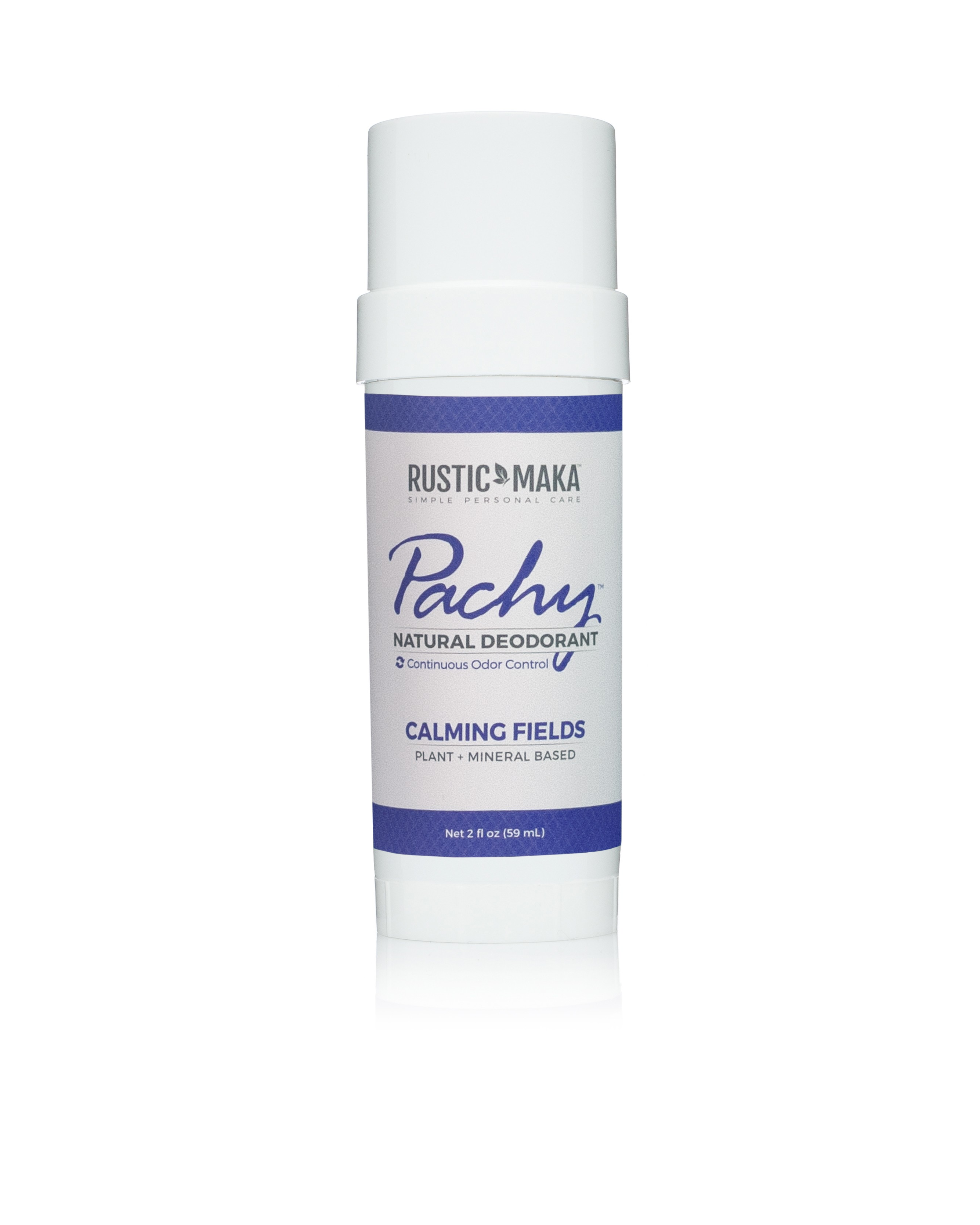 Rustic MAKA Pachy Natural Deodorant Calming Fields - Full Size
