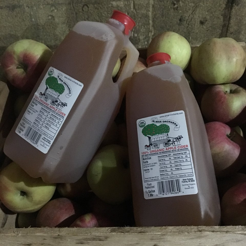 Almar Orchards - 1/2 Gal Organic Apple Cider