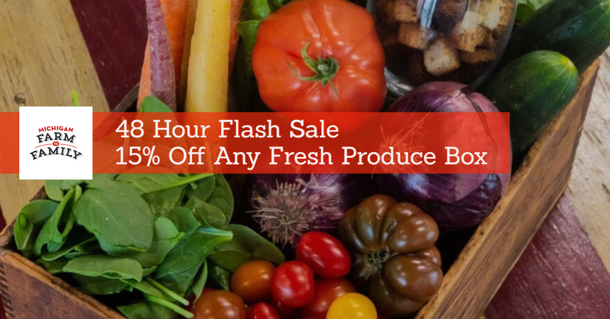 Our 48 Hour Flash Sale on 15% Off Organic Produce Boxes Has Ended