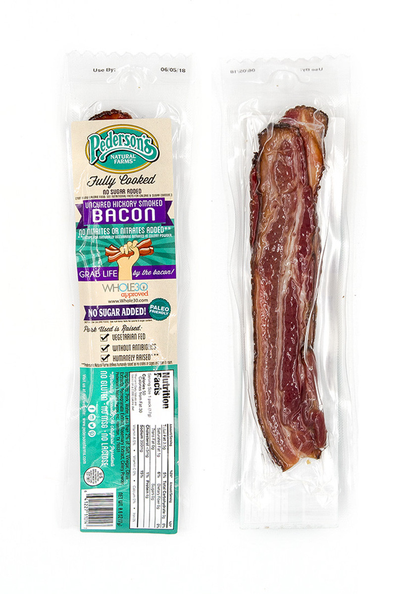 Pederson's - Bacon Snack, No Added Sugar 15-Pack (Fully Cooked)