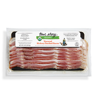 True Story - Organic Uncured Hickory Smoked Bacon