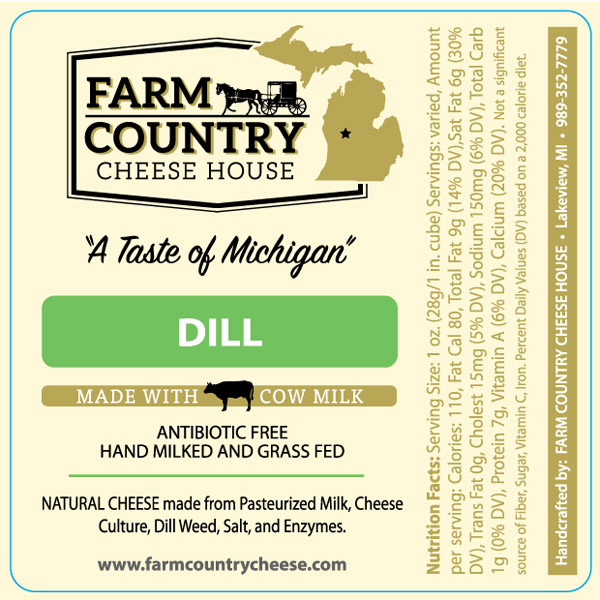 Farm Country Amish Cheese - Dill 8 oz