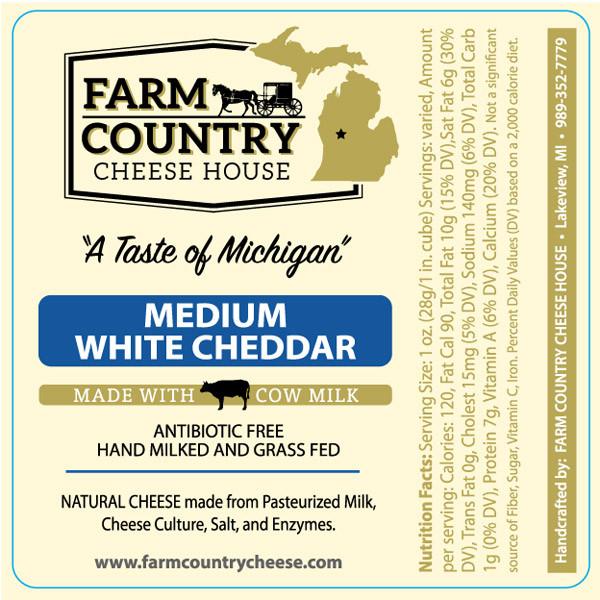 Medium White Cheddar, Grass-Fed
