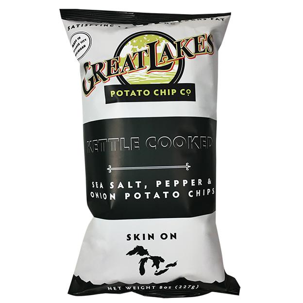 Great Lakes NON-GMO Potato Chips - Salt, Pepper, Onion 16 oz