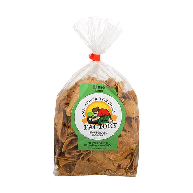 Ann Arbor Tortilla Factory  - Chips, Lime 32 oz