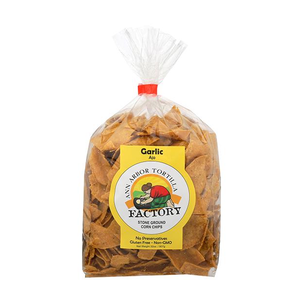 Ann Arbor Tortilla Factory  - Chips, Garlic 32 oz