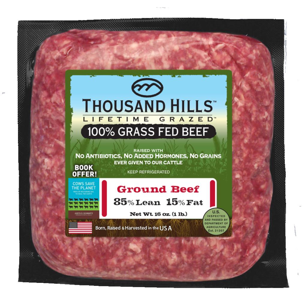 Thousand Hills 100% Ground Beef - 85% Lean