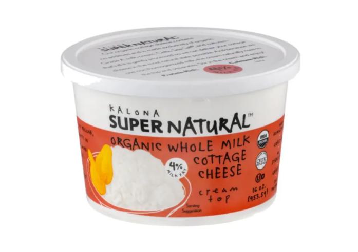 Kalona Super Natural - Cottage Cheese, 4% Milk Fat, Organic Whole Milk - 16 Ounces