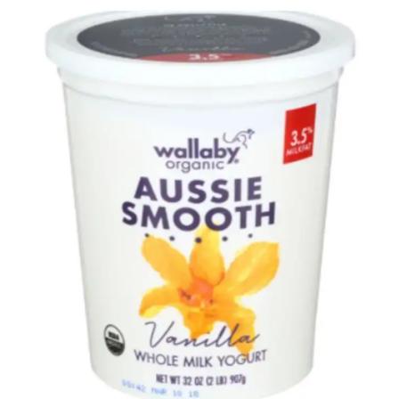 Wallaby Organic - Aussie Smooth Vanilla Yogurt - 32 Ounces