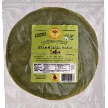 Organic Spinach Garlic Wraps