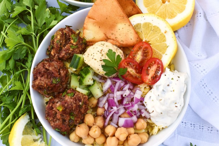 Greek Meatball Bowls
