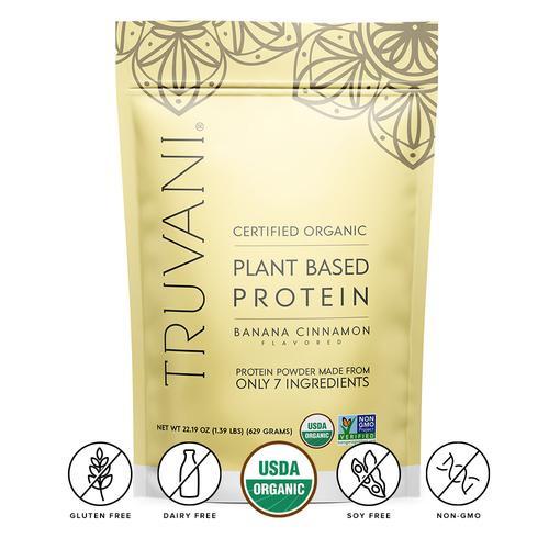 Organic Banana Cinnamon Protein Powder, Plant-Based