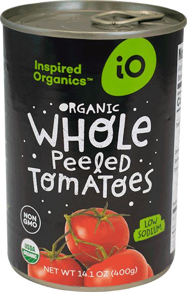 Organic Whole Peeled Tomatoes, Case