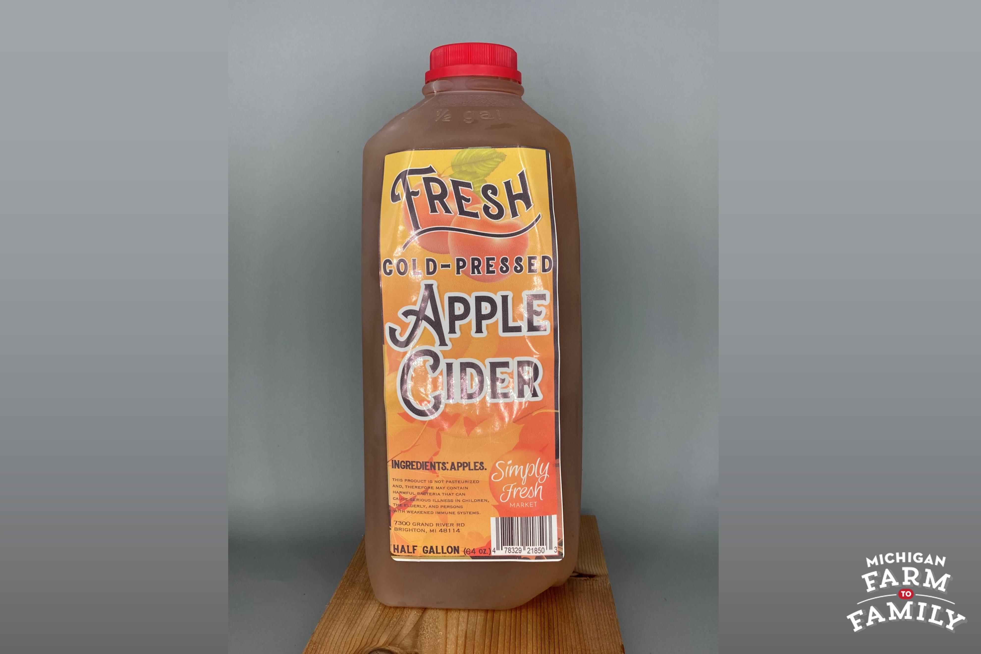 Fresh Apple Cider, Cold-Pressed (Half-Gallon)