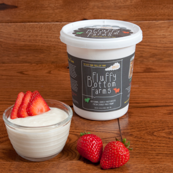 Fluffy Bottom Farms Yogurt - Plain 1lb
