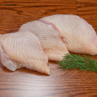Miller Organic Chicken Thighs, Bone-In, Skin-On