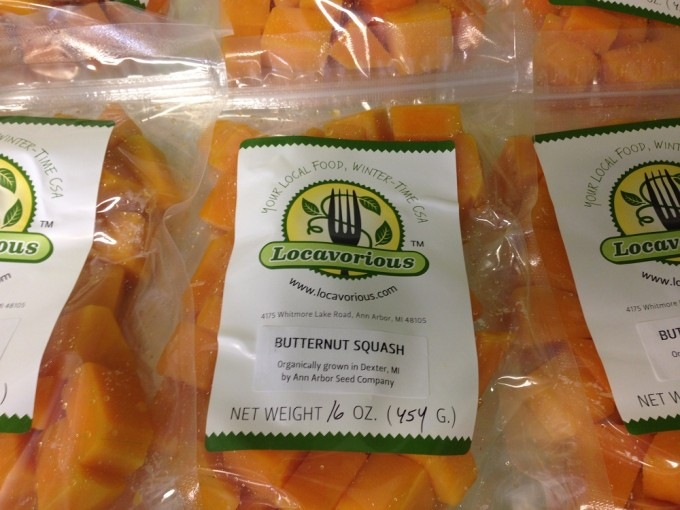 Locavorious Frozen Squash (Butternut) Diced