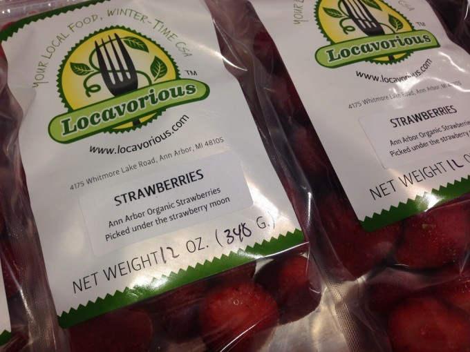 Locavorious Frozen Strawberries