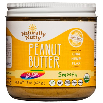 Naturally Nutty - Organic Natural Peanut Butter, Smooth 15oz