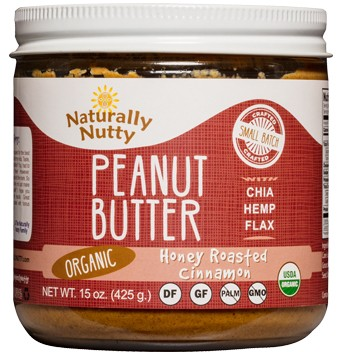 Naturally Nutty Organic Honey Roasted Cinnamon Peanut Butter 15 oz