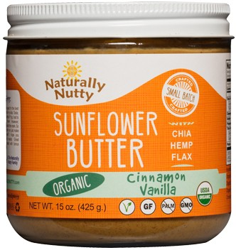 Naturally Nutty Organic Cinnamon Vanilla Sunflower Butter 15 oz