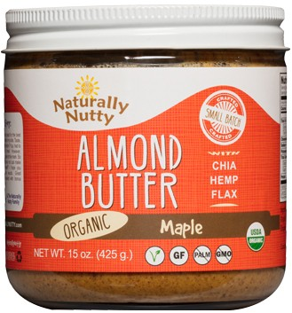 Naturally Nutty Organic Maple Almond Butter 15 oz